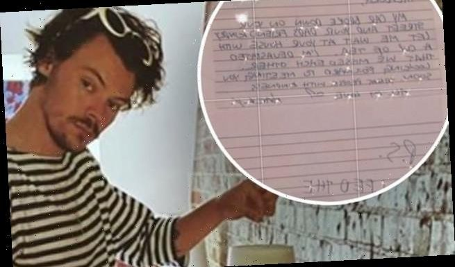Harry Styles left an adorable note for a superfan after her dad helped