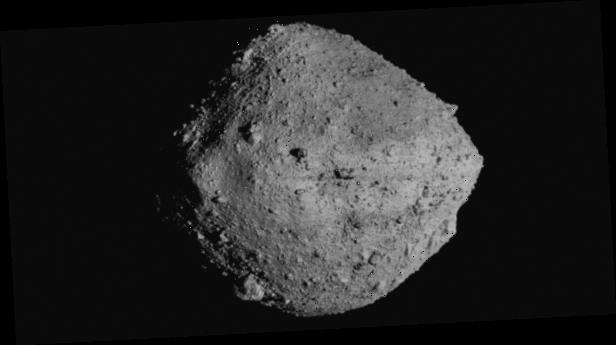 U.S. spacecraft momentarily touches asteroid surface for rare rubble grab