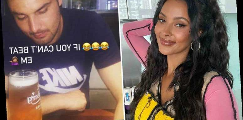 Maya Jama hits back at troll who called her a 's**t' by posting his picture and calling him a 'p***k'