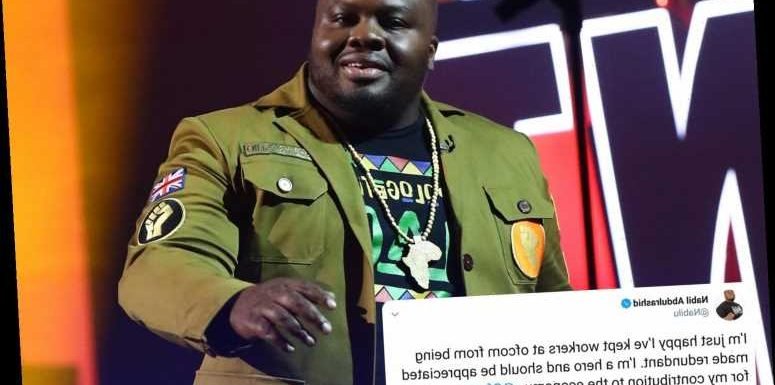 BGT comedian Nabil Abdulrashid boasts that he's saved Ofcom staff from redundancy after 2,094 complain about him