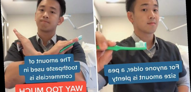 Dentist reveals how much toothpaste you should REALLY be using based on your age & you're definitely getting it wrong