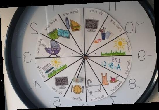 Mum gives a clock a nifty makeover to help her routine-obsessed four-year-old enjoy her day and people love the idea