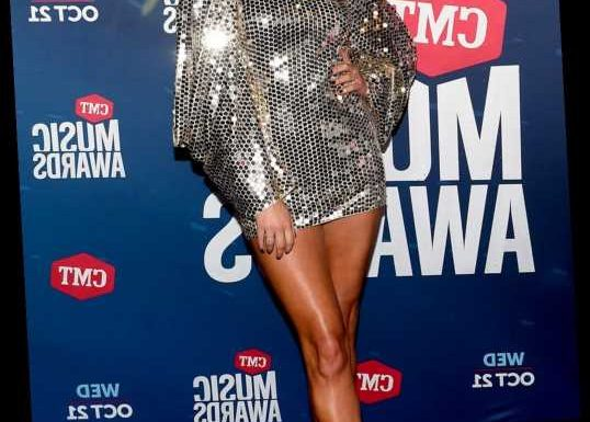 Kelsea Ballerini Stuns in Silver Tom Ford Blouse at CMT Awards — But She Wore It as a Dress!
