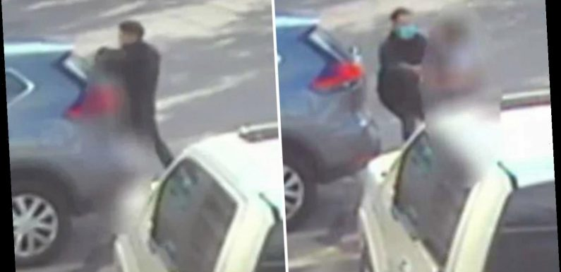 Terrifying moment 'kidnapper' bundles girl, 9, into car when she stepped off school bus 'before sexually assaulting her'
