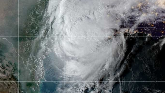 "Hurricane Delta makes landfall in Louisiana as a ""life-threatening"" Category 2 storm"