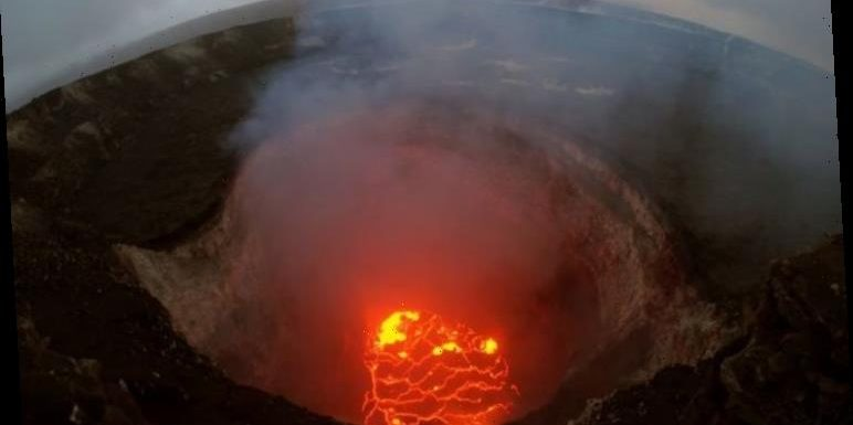 Volcano news: Footage shows SCORCHING lake that could swallow 'ten-story building' deepen