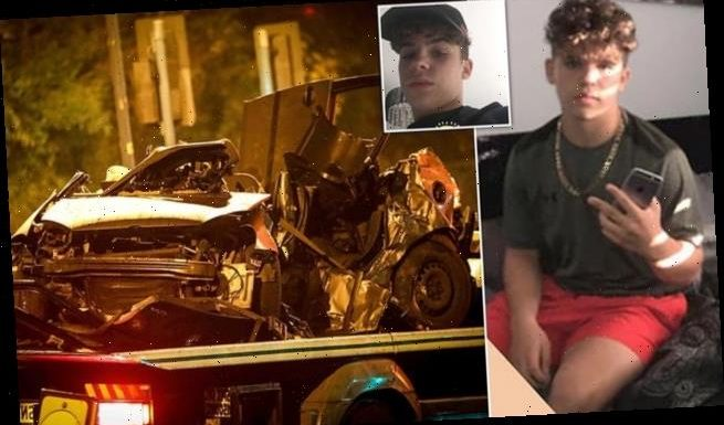 Pictured: Boy, 16, killed when car being chased by police crashes