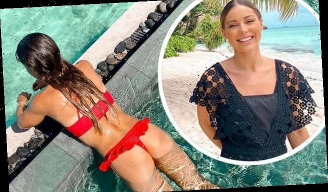 Louise Thompson looks radiant in sizzling bikini snaps