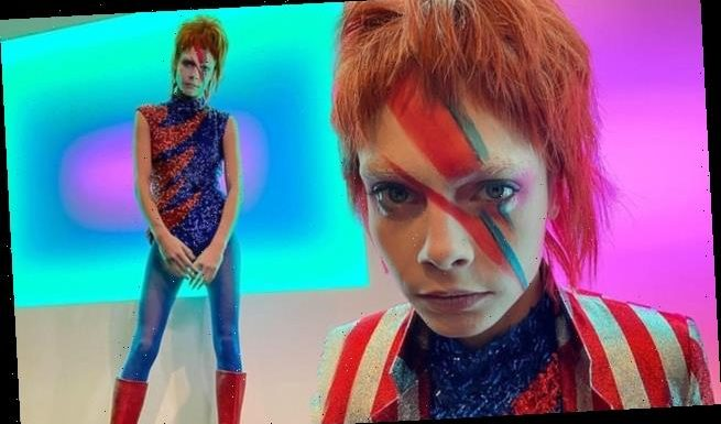 Cara Delevingne wows followers in David Bowie Halloween costume