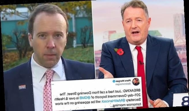 Piers Morgan reveals end of 201-day government 'boycott' of GMB