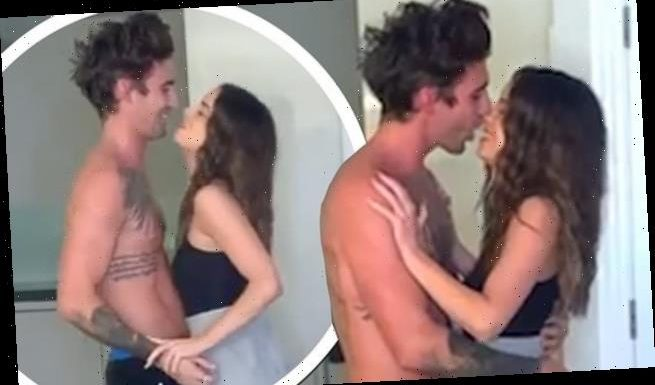 Love Island's Chris Taylor and Maura Higgins KISS on camera
