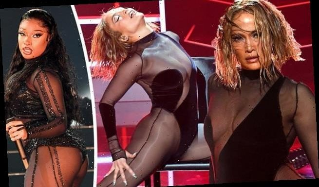 J-Lo and Megan Thee Stallion set pulses racing as they perform AMAs
