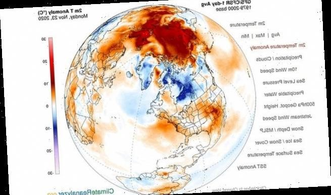 Arctic temperatures are 12°F above normal for 1990s