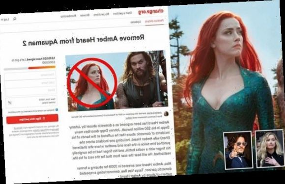 Petition to fire Amber Heard from Aquaman has 1.5MILLION signatures