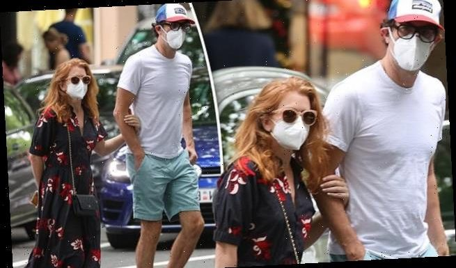 Sacha Baron Cohen and Isla Fisher enjoy a lunch date in Woollahra
