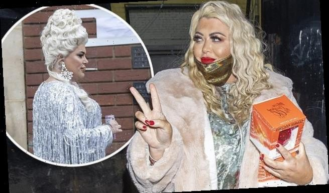 Gemma Collins joind Drag Race UK's Baga Chipz at London studio