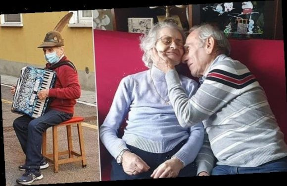 Italian woman serenaded by her accordion-playing husband has died