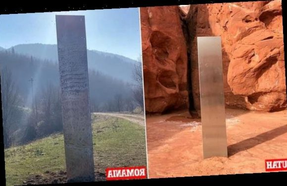 Mysterious monolith appears in ROMANIA after one vanished from Utah