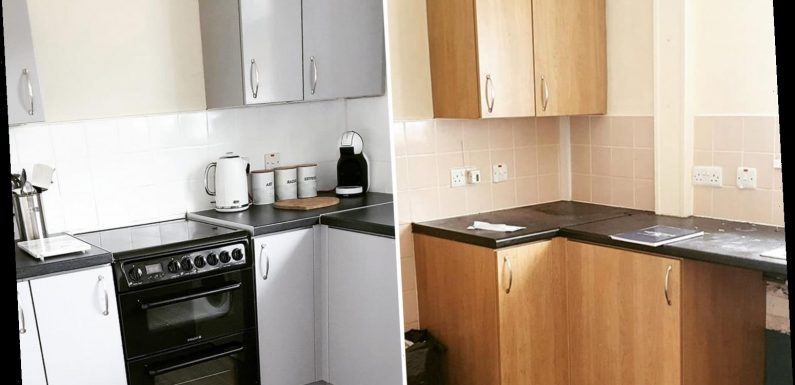 Woman transforms her drab and dated kitchen for just £20 – and people are amazed by how different it looks