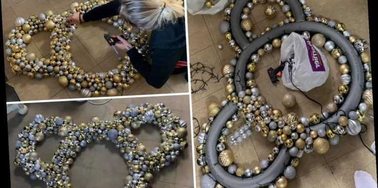 Disney fan makes stunning Minnie Mouse wreaths for Christmas using pipe insulation and saves herself over £200