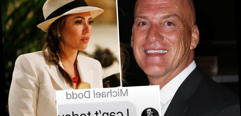 RHOC's Kelly Dodd saves ex Michael in her phone with a photo of HITLER as she claims he ditched their daughter in rant