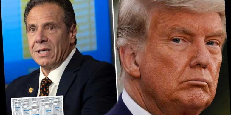 Andrew Cuomo calls Trump 'incompetent' and 'irrelevant' after Don threatened to WITHHOLD Covid vaccine from NY