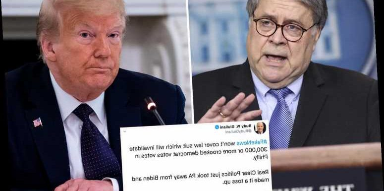 Attorney General Barr authorizes probes into alleged 'voting irregularities' amid Trump's unfounded 'fraud' claims
