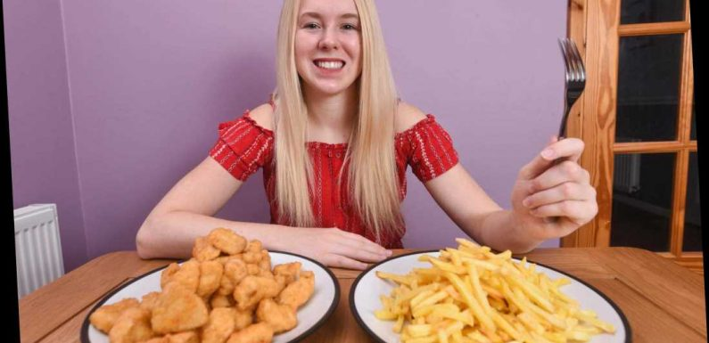Woman, 19, finally learns to use cutlery after eating nothing but chicken nuggets and chips for 15 years