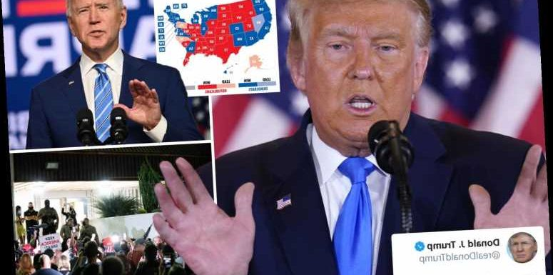 Furious Trump calls for election votes to 'STOP being counted' as Biden edges closer in Georgia and Pennsylvania