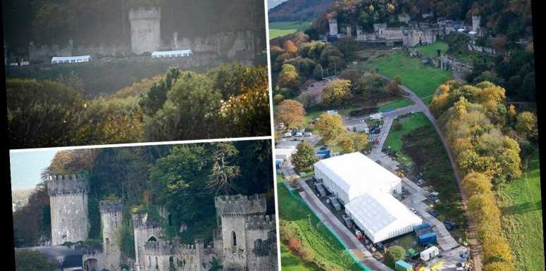 I'm A Celebrity's Gwrych Castle has huge tents put alongside set as ITV rush to get set ready ahead of show launch