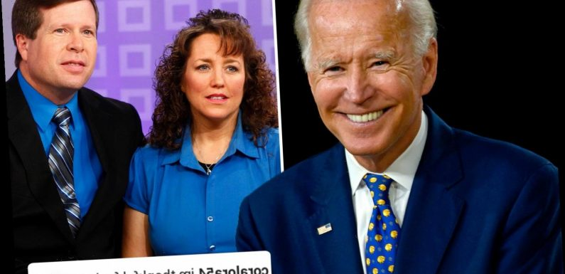 The Duggars trolled by Biden supporters as Trump-loving family asks fans to share what they're grateful for right now