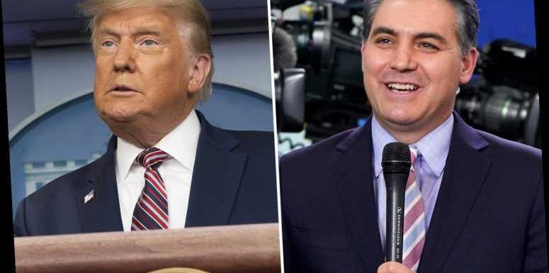 CNN star Jim Acosta taunts Trump by asking if he's a 'sore loser' after wild press conference about election 'cheating'