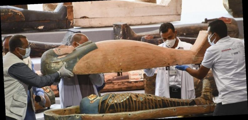 Archaeologists unearthed 160 sarcophagi in an Egyptian city of the dead. They opened one that was sealed for more than 2,500 years.