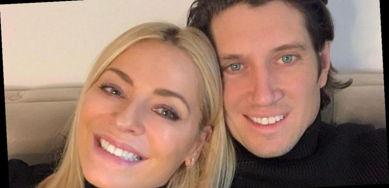 Tess Daly gushes over Vernon Kay's ripped body as she says he 'looks so good'