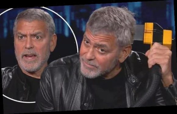 George Clooney forced to prove he can cut his own hair with a Flowbee