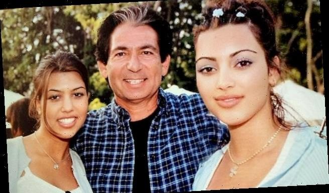 Kim Kardashian is peak 90s in a snap with Kourtney and dad Robert