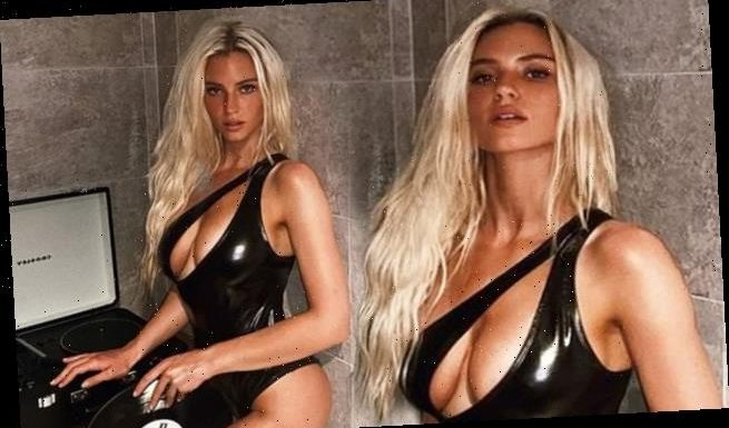 Love Island's Lucie Donlan sets pulses raising in plunging swimsuit
