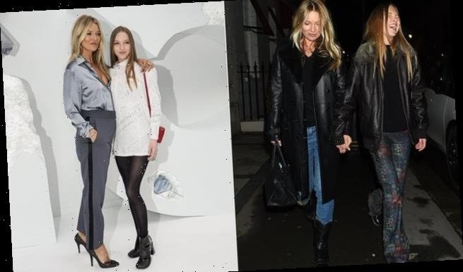 Kate Moss and her mini-me daughter Lila Grace head to Mayfair club