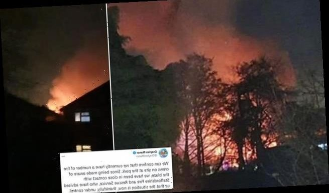 Large blaze breaks out at Drayton Manor theme park