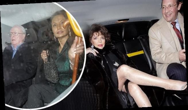 Joan Collins, 87, flaunts her showstopping legs as she hits the town