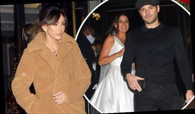 Michelle Keegan wows in chic coat and mini dress