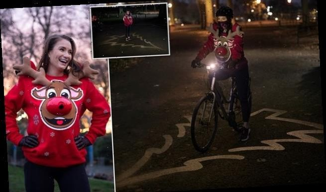 Christmas jumper for cyclists projects 5-foot 'safe zone' on the road