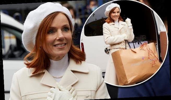 Geri Horner delivers Christmas presents to NHS workers