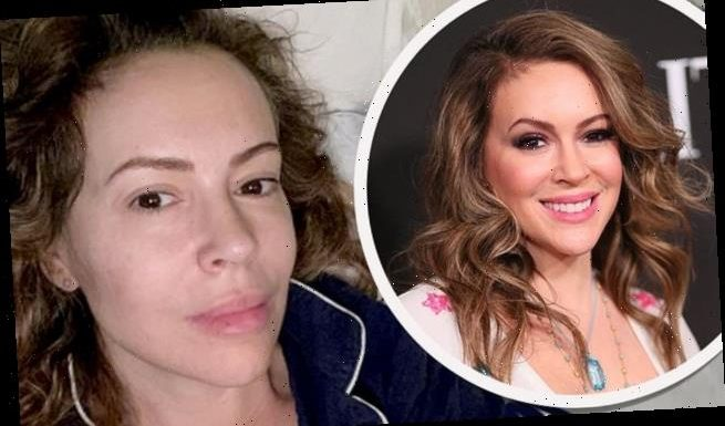 Alyssa Milano posts a glowing make-up free selfie on her 48th birthday