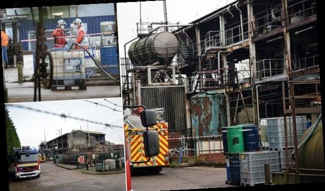 Man is seriously injured with chemical burns after huge 'explosion'