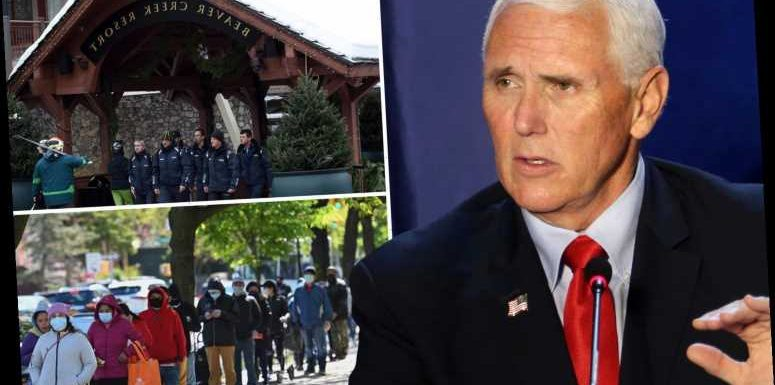Mike Pence slammed for 'breaking his Covid team's travel rules' on ski trip 'as millions lose unemployment benefits'