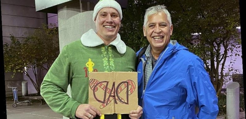 'Elf' Comes To Life, As Man Meets Dad For First Time Dressed As Film's Wacky Star 'Buddy'