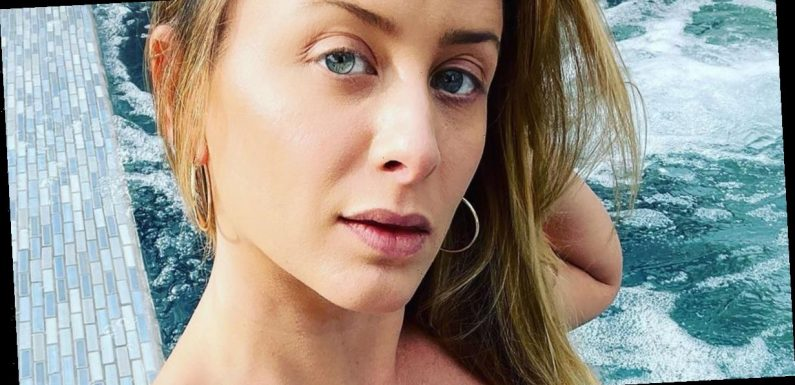 Lo Bosworth Stuns in Navy One-Piece Swimsuit