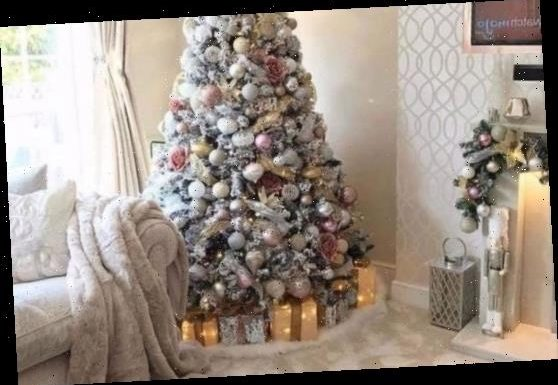 Mums are creating fake snow at the bottom of their Christmas trees using £12 fluffy white rugs from Amazon – The Sun