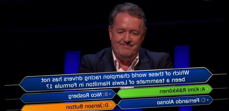 Piers Morgan loses £15k in 'humiliating' Who Wants To Be A Millionaire? defeat – but generously gives charity the cash